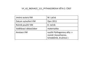 VY_42_INOVACE_111_PYTHAGOROVA VĚTA 2. ČÁST