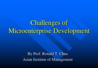 Challenges of Microenterprise Development
