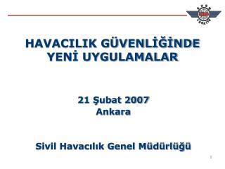 HAVACILIK G VENLIGINDE YENI UYGULAMALAR