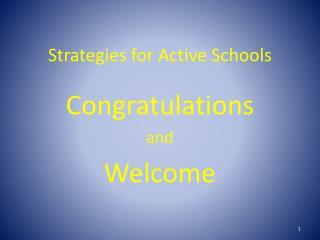 Strategies for Active Schools
