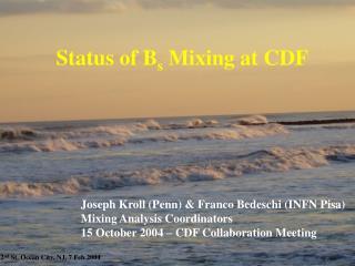 Status of B s  Mixing at CDF