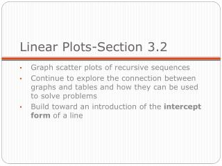 Linear Plots-Section 3.2