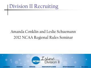 Division II Recruiting