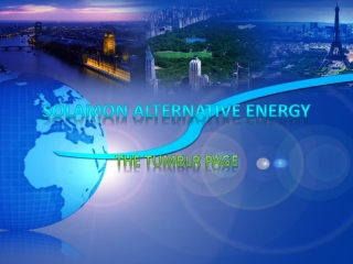 SOLAMON ALTERNATIVE ENERGY - Tumblr Page