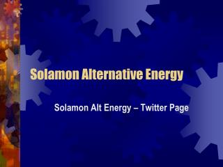 Solamon Alternative Energy - Twitter Follow