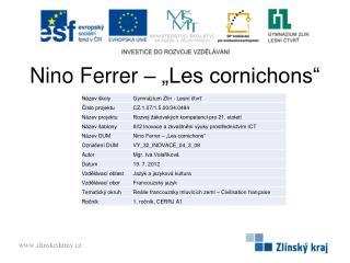 """Nino Ferrer – """"Les cornichons"""""""