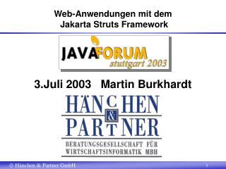Web-Anwendungen mit dem  Jakarta Struts Framework