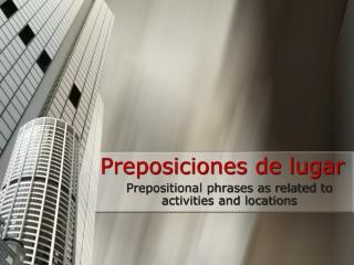 Preposiciones de lugar