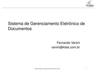 Sistema de Gerenciamento Eletr nico de Documentos