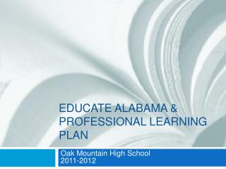 Educate Alabama  Professional Learning Plan