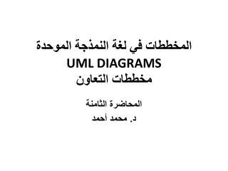 المخططات في لغة الن م ذجة الموحدة  UML DIAGRAMS مخططات  التعاون