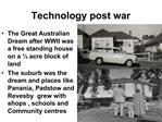 Technology post war