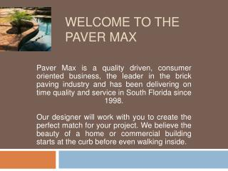 Welcome to paver max