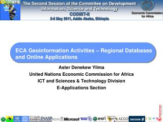 ECA Geoinformation Activities   Regional Databases and Online Applications