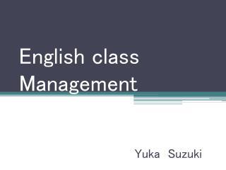 English class Management