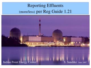 Reporting Effluents  more