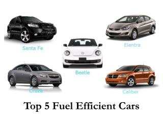 Top 5 Fuel Efficient Cars