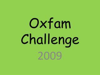 Oxfam Challenge