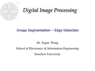 Image Segmentation   Edge Detection