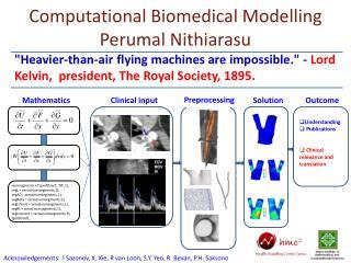 Computational Biomedical Modelling Perumal Nithiarasu