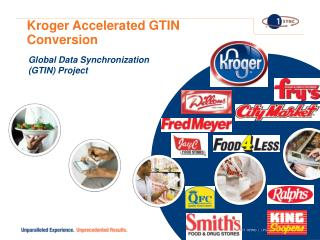 Kroger Accelerated GTIN Conversion