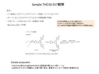 Sample THO10-017 観察