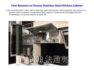 Four Reasons to Choose Stainless Steel Kitchen Cabinet