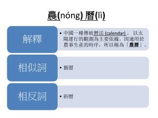 農( nóng ) 曆( lì )