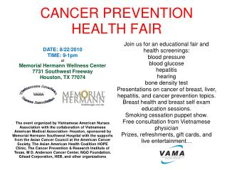 CANCER PREVENTION HEALTH FAIR