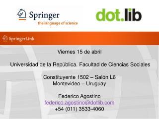 Viernes 15 de abril    Universidad de la República. Facultad de Ciencias Sociales