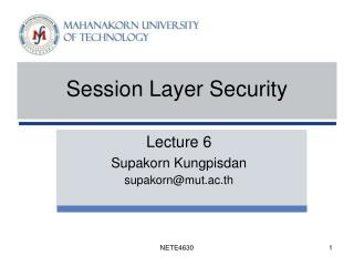 Session Layer Security