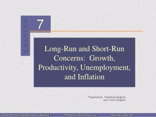 Long-Run and Short-Run Concerns:  Growth, Productivity, Unemployment, and Inflation