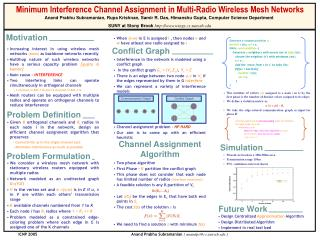 Increasing interest in using wireless mesh networks  (WMNs)  as backbone networks recently