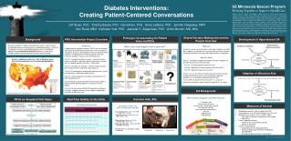 Diabetes Interventions:  Creating Patient-Centered Conversations