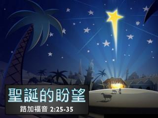 聖誕的盼望 路加福音  2:25-35