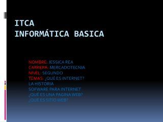 ITCA INFORMÁTICA BASICA