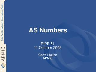 AS Numbers