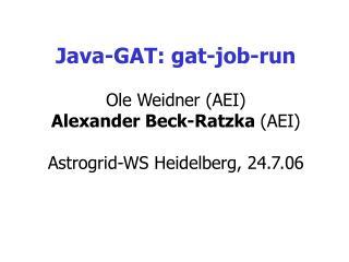 Java-GAT: gat-job-run