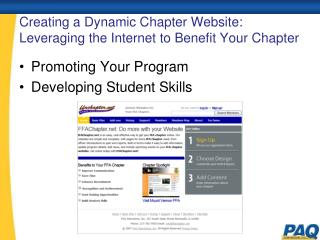 Creating a Dynamic Chapter Website: Leveraging the Internet to Benefit Your Chapter