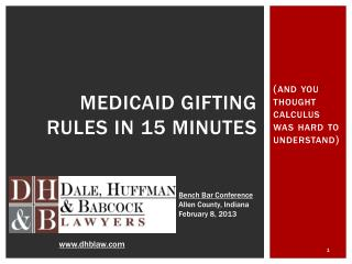 Medicaid Gifting Rules in 15 minutes