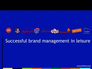 Successful brand management in leisure