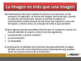 La Imagen es más que una imagen