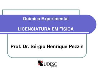 Química Experimental LICENCIATURA EM FÍSICA