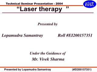 """""""Laser therapy  """""""