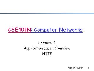 CSE401N : Computer Networks