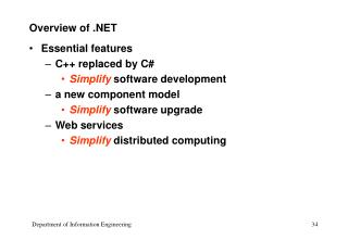 Overview of .NET