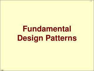 Fundamental Design Patterns