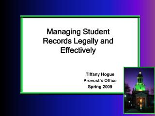 Managing Student Records Legally and Effectively