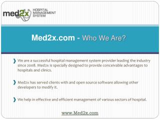 Hospital Information Software - Med2x