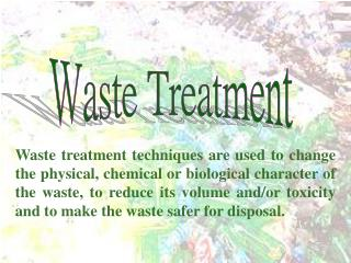 Waste Treatment